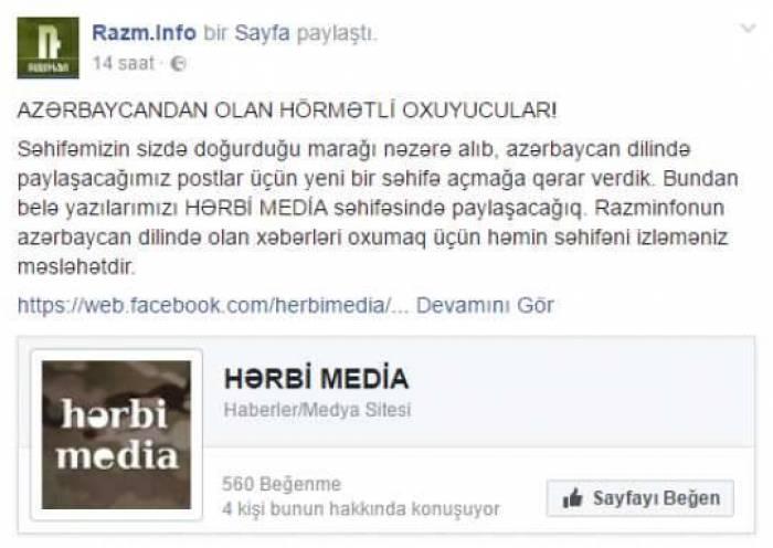 DİQQƏTLİ OLUN! - Ermənilər Azərbaycan dilində təxribat xəbərləri yayır