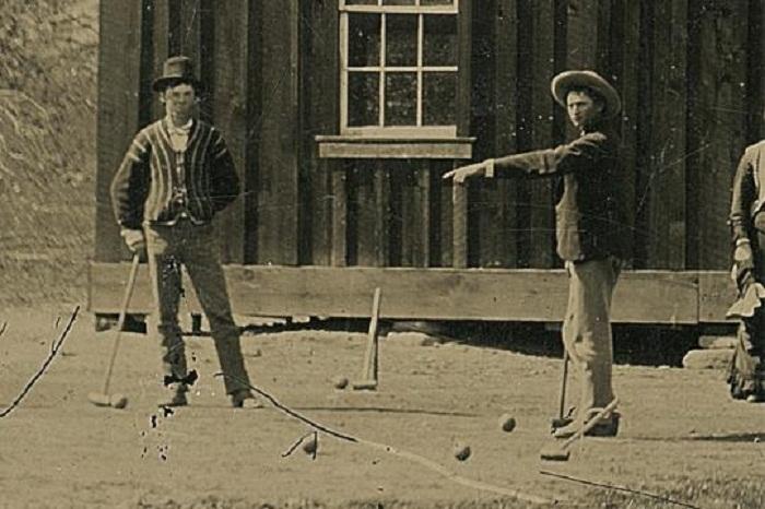 Billy the Kid als Hobby-Spieler fotografiert