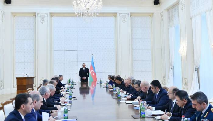 Celebrada la reunión del Gabinete de Ministros bajo la presidencia del Presidente Ilham Aliyev