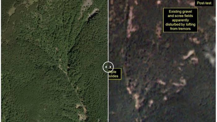 Fotos revelan excavaciones secretas en sitio nuclear norcoreano