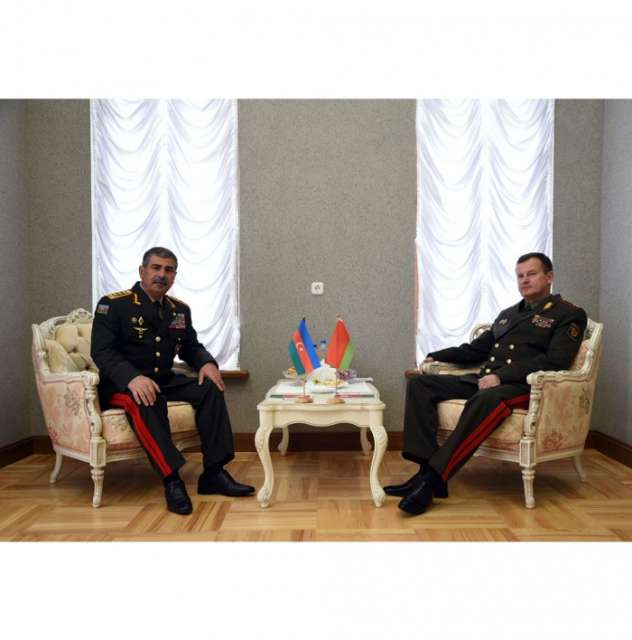 Defense Ministers of Azerbaijan and Belarus discusses issues of military cooperation - PHOTOS