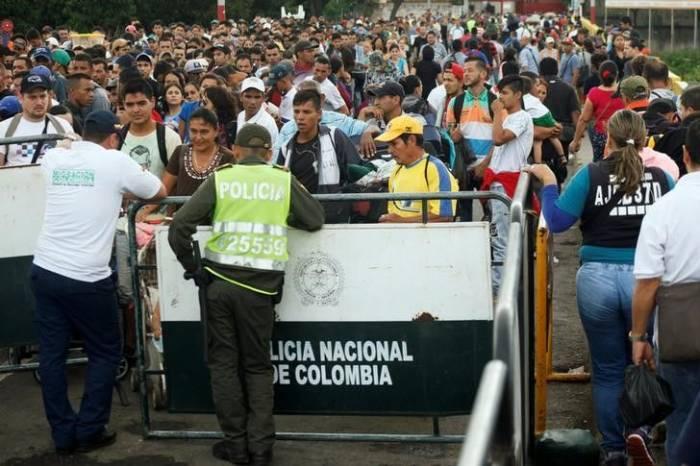 Afflux de Vénézuéliens en Colombie au deuxième semestre 2017