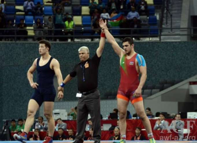 Azerbaijani Greco-Roman wrestlers win two medals at Takhti Cup