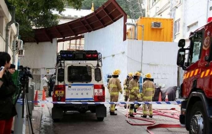 Hong Kong police defuse 450kg American wartime bomb
