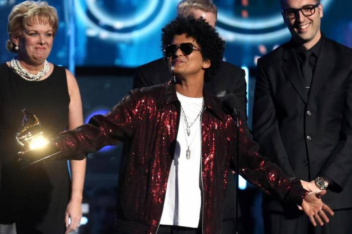 Bruno Mars Wins Record of the Year Grammy Award