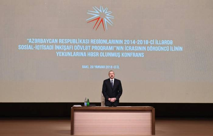 President Aliyev at conference dedicated to development of Azerbaijan