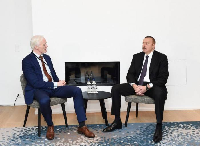President Ilham Aliyev meets with Microsoft corporate VP