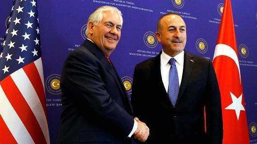 US, Turkish FMs discuss Sochi talks, Afrin operation