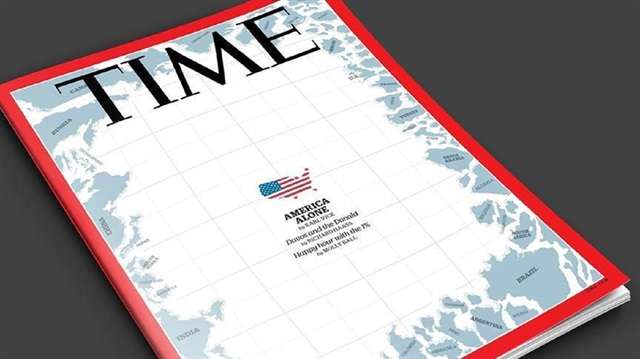 Time magazine features illustration of 'America alone' on its cover