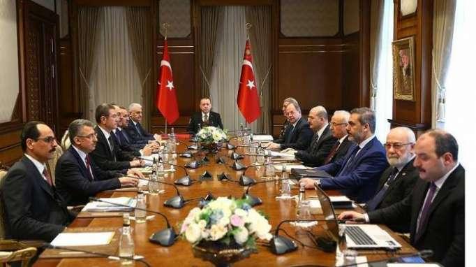 """أردوغان يترأس اجتماعا أمنيا للاطلاع على تطورات """"غصن الزيتون"""""""