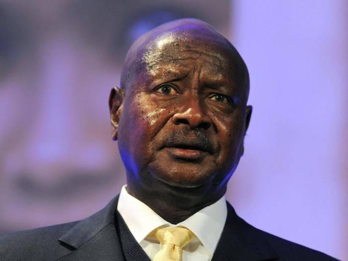 Ugandan president declares his love for Trump