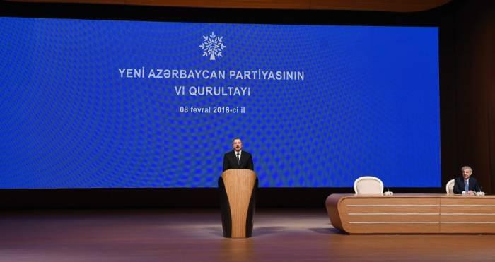 Le Président azerbaïdjanais au congrès du YAP - Mise à Jour