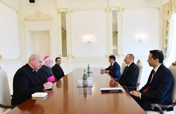 President Ilham Aliyev receives delegation of Holy See