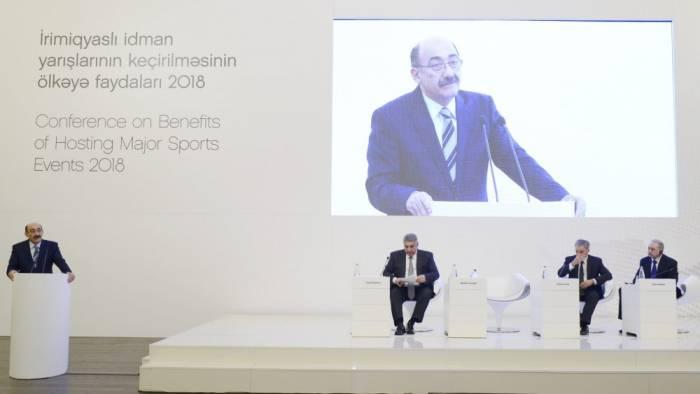 Conférence au sujet de «Les avantages des événements sportifs majeurs pour le pays hôte»à Bakou