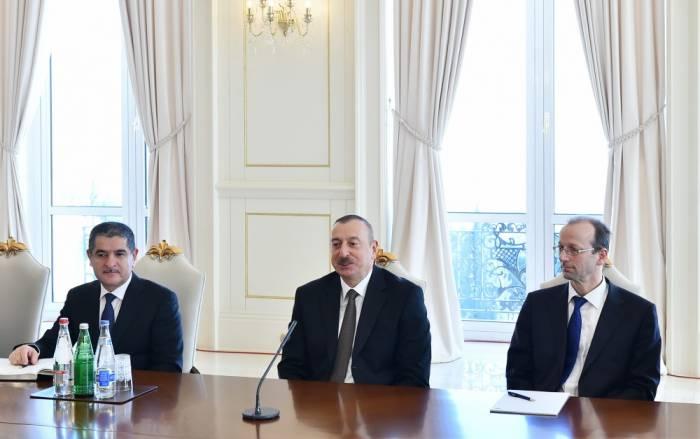 """Ilham Aliyev:""""Las conversaciones sobre nuevos campos con empresas líderes en el mundo entran en fase activa"""""""