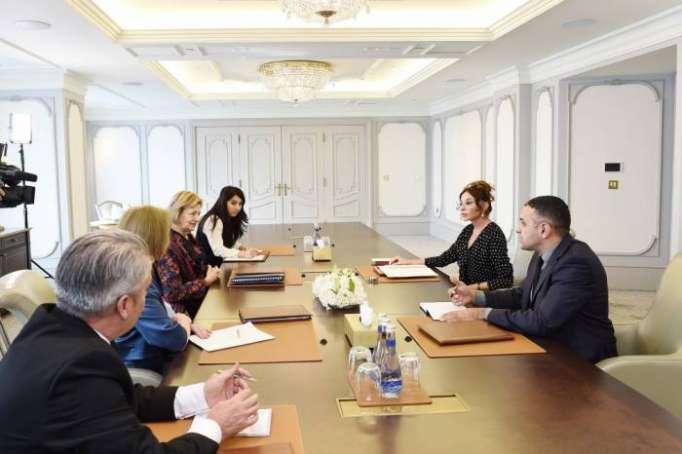First VP Mehriban Aliyeva receives UK PM