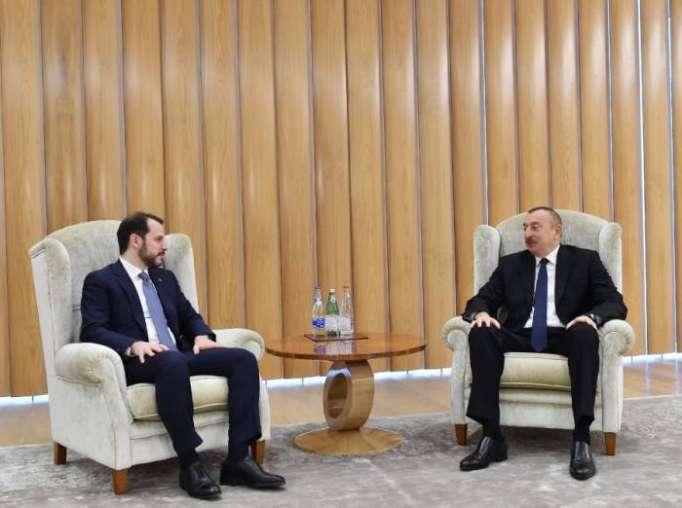 Azerbaijani President meets withBerat Albayrak