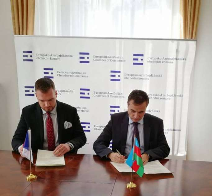 Aserbaidschanische Botschaft in Tschechien und europäisch-aserbaidschanische Handelskammer unterzeichnen Memorandum