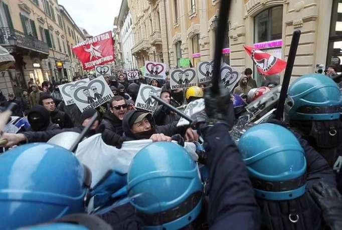 Italia vive una intensa jornada de manifestaciones a una semana de las elecciones
