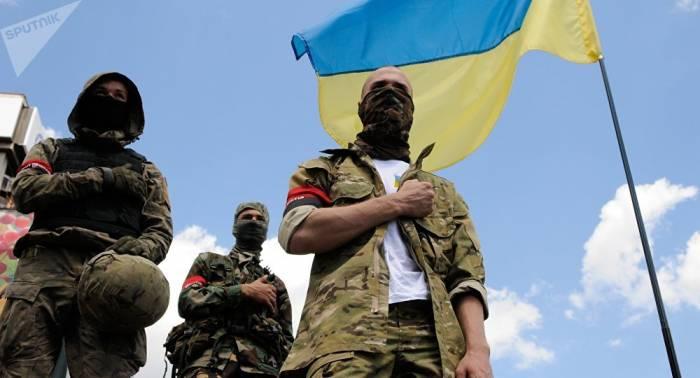 Donbass: Ukrainische Radikale tauchen nahe Trennlinie auf - Lugansker Volksmiliz