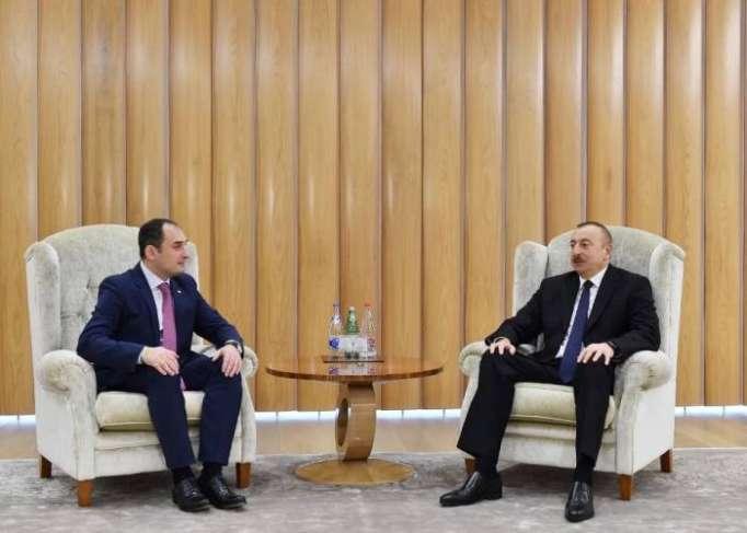 Ilham Aliyev meets first deputy PM of Georgia