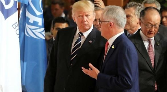 رئيس وزراء أستراليا يجرى محادثات مع ترامب
