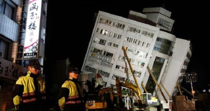 Taiwan hit by earthquake of 5.7 magnitude on eastern coast