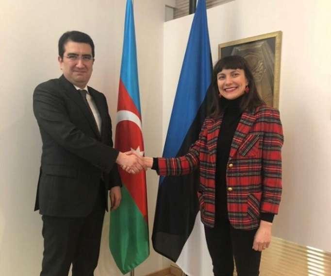 Azerbaijani Ambassador to Estonia met with Vice-Mayor of Tallinn