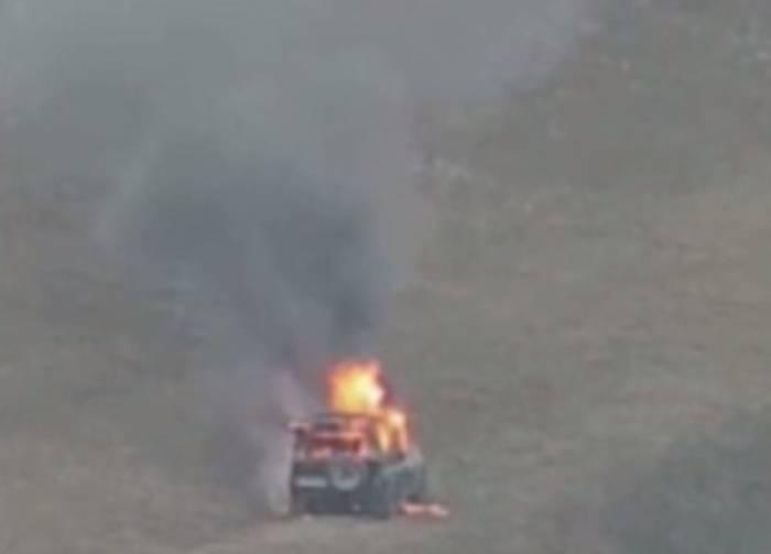 الاستفزاز على حدود الدولة - العدو ينسحب عن طريق حرق تقنيته (فيديو)