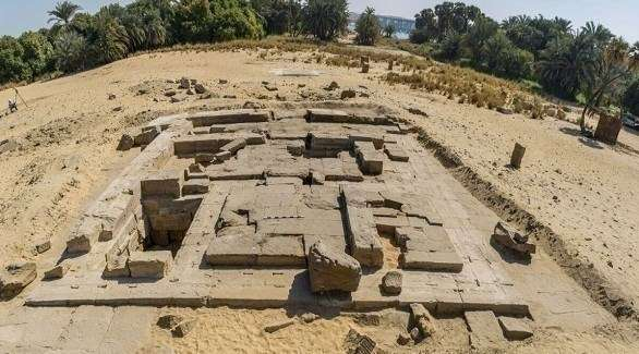 اكتشاف معبد روماني في أسوان بصعيد مصر - صور