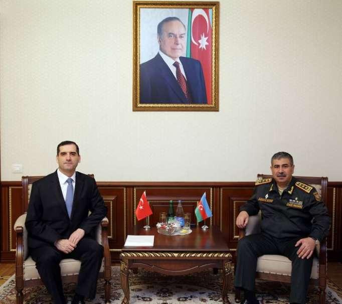 Azerbaijani Defense Minister discusses military cooperation with Turkish Ambassador to Azerbaijan