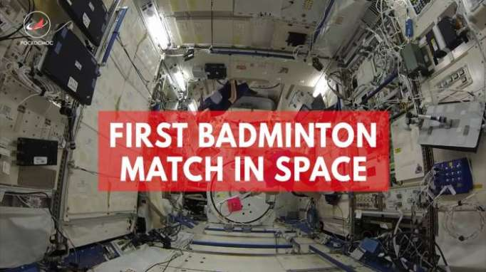 Astronauts play space badminton for the first time ever on the ISS