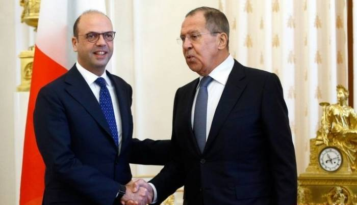 Sergei Lavrov and Italian Foreign Minister Angelino Alfano meet in Moscow