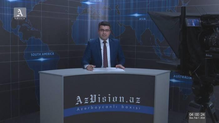 AzVision TV:Die wichtigsten Videonachrichten des Tages auf Deutsch (8 Februar)-VIDEO