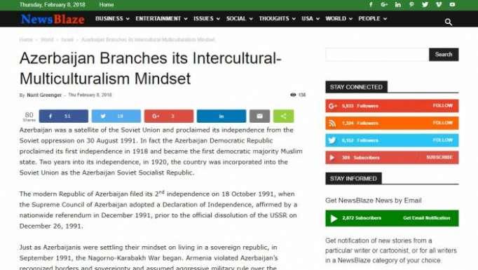 Azerbaijan Branches its Intercultural-Multiculturalism Mindset - NewsBlaze