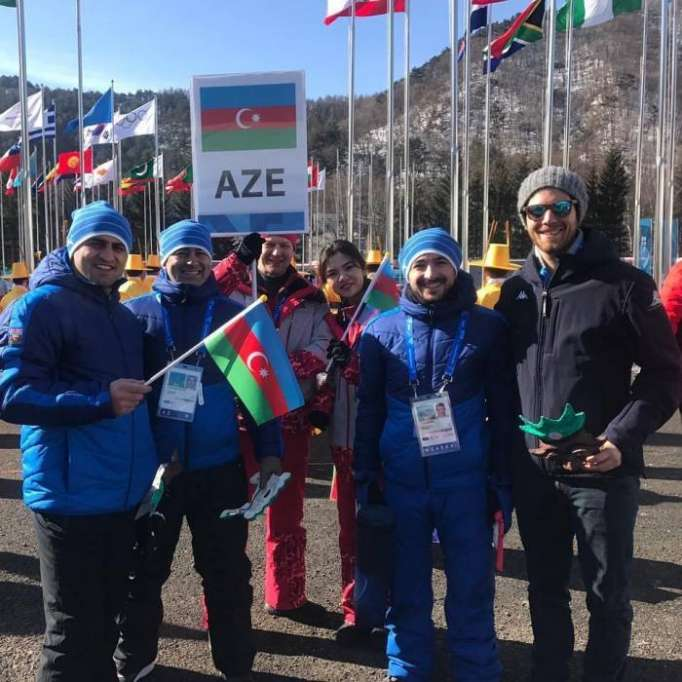 Azerbaijan's flag raised in Olympic Village in S.Korea