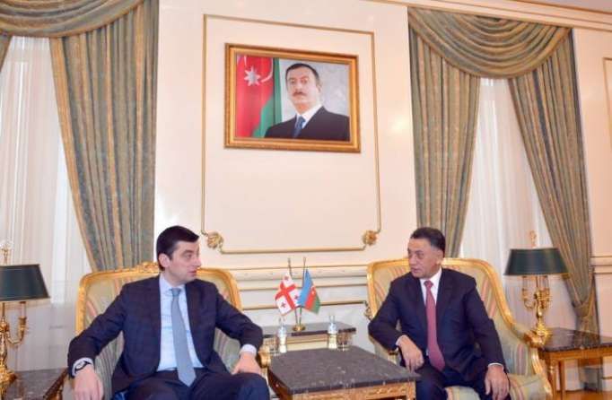 Azerbaijan`s Interior Minister meets his Georgian counterpart