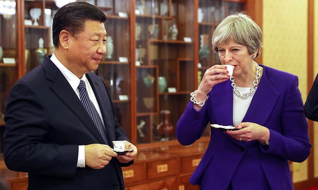 China commends Theresa May for