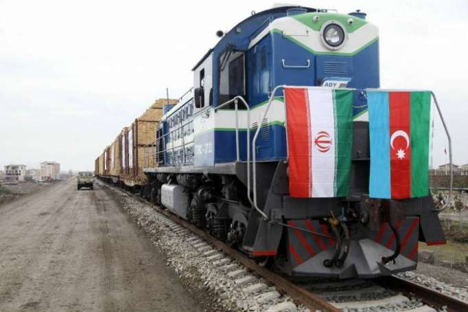 First freight train sent off from Azerbaijan to Iran