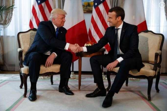 Trump, Macron discuss Iran