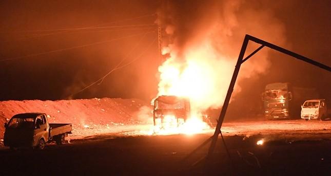 الجيش التركي يعلن قصف رتل إرهابي جنوب شرقي عفرين السورية