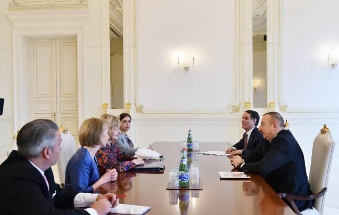 President Aliyev receives UK special trade envoy