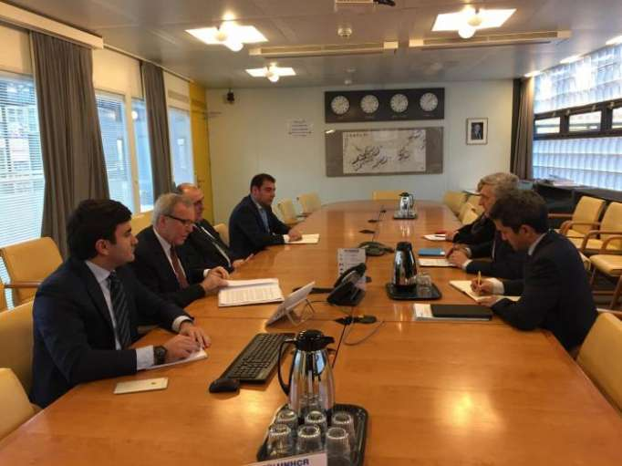 Azerbaijani FM meets with United Nations High Commissioner for Refugees