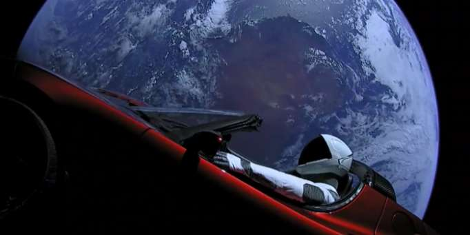 """Starman"" set out on space trip after big rocket launch - NO COMMENT"