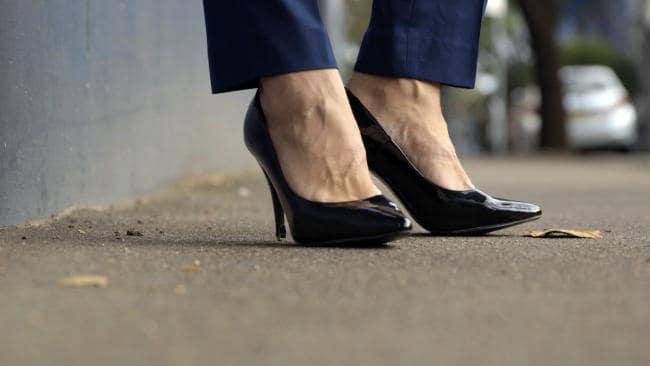 Sydney man wears stiletto heels to work make identity statement
