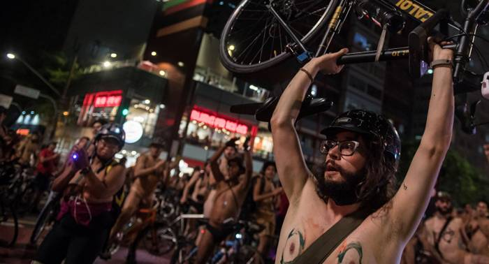 World naked bike ride comes to Brazil