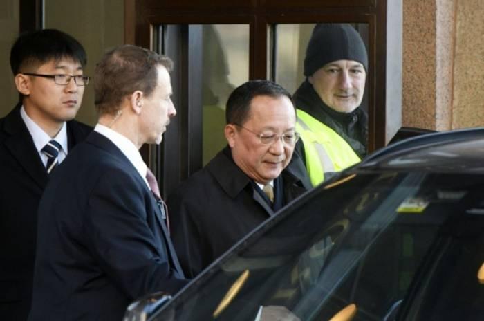 Le chef de la diplomatie nord-coréenne en Suède