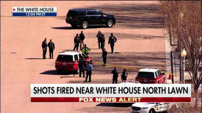 White House placed on lockdown after reports of man shooting himself next to fence