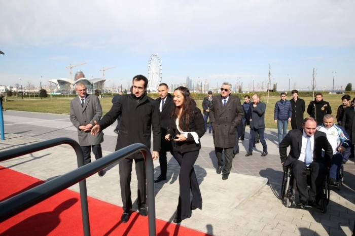 Leyla Aliyeva takes part in opening ceremony at Seaside Boulevard