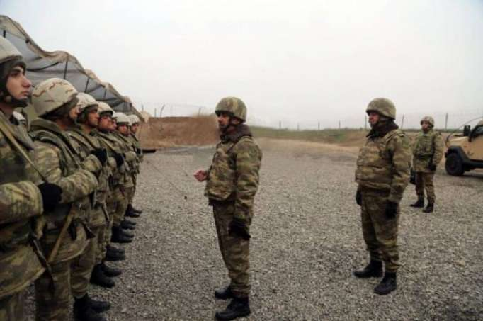 Defense Minister Zakir Hasanov visits military units on front line